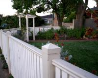 Picket fence with an arbor