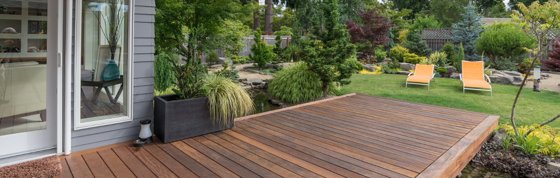 Merbau Decking with Attractive Garden