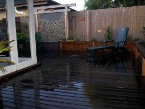 Courtyard with timber decking