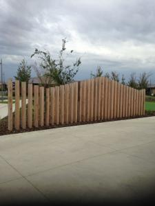 Decorative timber feature fence