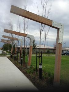 Decorative timber feature
