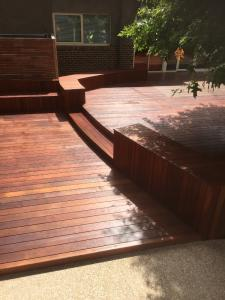 Split level timber deck
