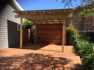 Timber deck and Pergola