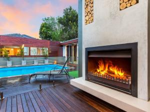Timber decking for poolside and outdoor entertaining area